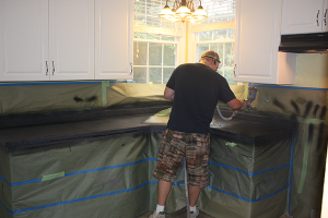 Transformation in progress Amazing Bathtub Refinishing Raleigh North Carolina